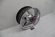 Suzuki GSXR - 1000 Aluminum Motorcycle Wheel AFTER Chrome-Like Metal Polishing and Buffing Services - Aluminum Polishing