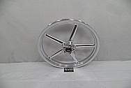Harley Davidson Rocker Custom Motorcycle Wheels AFTER Chrome-Like Metal Polishing and Buffing Services - Aluminum Polishing
