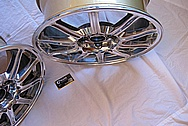 "Subaru STI Aluminum BBS 17"" Wheel AFTER Chrome-Like Metal Polishing and Buffing Services Plus Clear Coating Services"