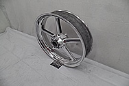 Aluminum Motorcycle Wheels AFTER Chrome-Like Metal Polishing and Buffing Services - Aluminum Polishing