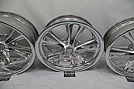 1957 Chevy Custom Aluminum Foose Racing Design Wheels AFTER Chrome-Like Metal Polishing and Buffing Services - Aluminum Polishing