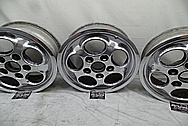 Porsche 944 Aluminum Wheels AFTER Chrome-Like Metal Polishing and Buffing Services - Aluminum Polishing