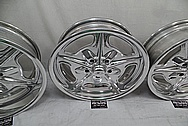 Aluminum Wheels AFTER Chrome-Like Metal Polishing and Buffing Services - Aluminum Polishing Services