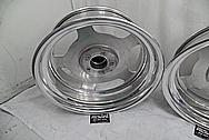 Aluminum Wheels AFTER Chrome-Like Metal Polishing and Buffing Services - Aluminum Polishing Services