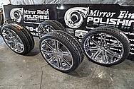 "26"" Truck Wheels AFTER Chrome-Like Metal Polishing and Buffing Services - Truck Wheel Polishing Service"