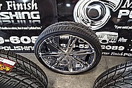"26"" Truck Wheels AFTER Chrome-Like Metal Polishing and Buffing Services - Truck Wheel Polishing Service"