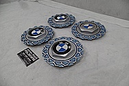 BMW Aluminum Wheel Centercaps AFTER Chrome-Like Metal Polishing and Buffing Services - Aluminum Polishing Services Plus Custom Painting Services