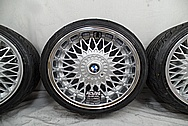 BMW E30 Aluminum BBS Wheels AFTER Chrome-Like Metal Polishing - Aluminum Polishing Services Plus Custom Painting Services