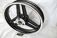 Harley Davidson Aluminum XR1200 Wheel AFTER Chrome-Like Metal Polishing and Buffing Services