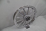 Trike Aluminum Wheel AFTER Chrome-Like Metal Polishing - Aluminum Polishing Services - Wheel Polishing