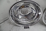Aluminum Truck Wheels AFTER Chrome-Like Metal Polishing - Aluminum Polishing Services - Wheel Polishing Services