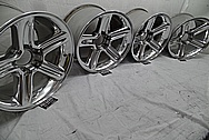 Ford Lightning Aluminum Wheels AFTER Chrome-Like Metal Polishing - Aluminum Polishing Services - Wheel Polishing Services