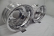 Ford 3500 Series Platinum Edition Truck Aluminum Wheels AFTER Chrome-Like Metal Polishing - Aluminum Polishing Services