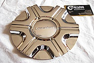 Aluminum Lowenhart Wheel Centercap AFTER Chrome-Like Metal Polishing and Buffing Services