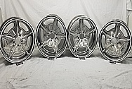 Aluminum Snowflake Wheels AFTER Chrome-Like Metal Polishing and Buffing Services - Aluminum Polishing - Wheel Polishing