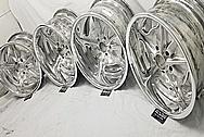 Aluminum Snowflake Wheels AFTER Chrome-Like Metal Polishing and Buffing Services - Aluminum Polishing - Wheel Polishing