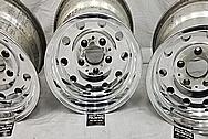 Aluminum 10 Hole Wheels AFTER Chrome-Like Metal Polishing and Buffing Services - Aluminum Polishing - Wheel Polishing
