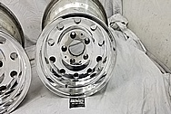 Aluminum 10 Hole Wheels AFTER Chrome-Like Metal Polishing and Buffing Services - Aluminum Polishing - Wheel Polishing