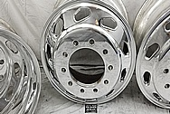 Semi Truck Aluminum Wheels AFTER Chrome-Like Metal Polishing and Buffing Services / Restoration Services - Aluminum Polishing - Wheel Polishing