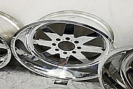 American Force Aluminum Wheels AFTER Chrome-Like Metal Polishing and Buffing Services / Restoration Services - Wheel Polishing - Aluminum Polishing