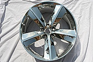 "Dodge Challenger Aluminum 20"" Wheel AFTER Chrome-Like Metal Polishing and Buffing Services"