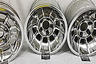 Aluminum Wheels AFTER Chrome-Like Metal Polishing and Buffing Services / Restoration Services - Wheel Polishing