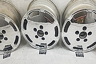 Porsche 928 Aluminum Wheels AFTER Chrome-Like Metal Polishing and Buffing Services / Restoration Services - Wheel Polishing
