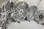 Razor All Terrain Vehicle Aluminum Wheels AFTER Chrome-Like Metal Polishing - Aluminum Polishing