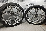 Billet Specialties Aluminum Wheels AFTER Chrome-Like Metal Polishing and Buffing Services - Aluminum Polishing Services - Wheel Polishing