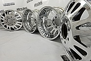 Aluminum Truck Wheels AFTER Chrome-Like Metal Polishing and Buffing Services - Aluminum Polishing Services - Wheel Polishing