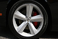 "Dodge Challenger Aluminum 20"" Wheel BEFORE Chrome-Like Metal Polishing and Buffing Services"