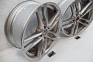 BMW Aluminum Wheel BEFORE Chrome-Like Metal Polishing and Buffing Services / Restoration Services