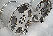 Dodge viper stock OEM Aluminum Wheels BEFORE Chrome-Like Metal Polishing and Buffing Services / Restoration Services