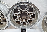 Weld Racing Aluminum Forged Wheels BEFORE Chrome-Like Metal Polishing and Buffing Services / Restoration Services