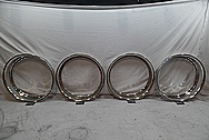 Aluminum Wheels Lips BEFORE Chrome-Like Metal Polishing and Buffing Services / Restoration Services