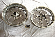 Carrozzeria Aluminum Motorcycle Wheel BEFORE Chrome-Like Metal Polishing and Buffing Services