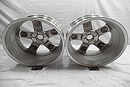 Aluminum Five Star Wheel Back Barrels BEFORE Chrome-Like Metal Polishing and Buffing Services