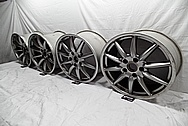 "19"" Porsche Aluminum Wheels BEFORE Chrome-Like Metal Polishing - Aluminum Wheel Polishing"