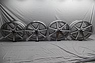 Rohana Aluminum Wheels BEFORE Chrome-Like Metal Polishing - Aluminum Polishing - Wheel Polishing