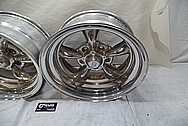 American Racing 5 Spoke Alumium Racing Wheels BEFORE Chrome-Like Metal Polishing - Aluminum Polishing - Wheel Polishing
