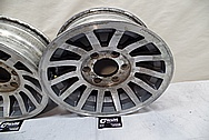 Intricate Aluminum Wheels BEFORE Chrome-Like Metal Polishing and Buffing Services - Aluminum Polishing