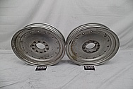 Aluminum Drag Racing Wheels BEFORE Chrome-Like Metal Polishing and Buffing Services - Aluminum Polishing