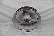 Suzuki GSXR - 1000 Aluminum Motorcycle Wheel BEFORE Chrome-Like Metal Polishing and Buffing Services - Aluminum Polishing
