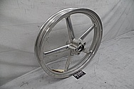 Harley Davidson Rocker Custom Motorcycle Wheels BEFORE Chrome-Like Metal Polishing and Buffing Services - Aluminum Polishing