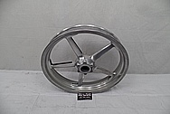 Aluminum Motorcycle Wheels BEFORE Chrome-Like Metal Polishing and Buffing Services - Aluminum Polishing