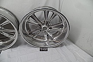 1957 Chevy Custom Aluminum Foose Racing Design Wheels BEFORE Chrome-Like Metal Polishing and Buffing Services - Aluminum Polishing