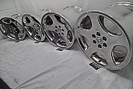 1998 Dodge Viper Aluminum Stock Wheels BEFORE Chrome-Like Metal Polishing and Buffing Services - Aluminum Polishing