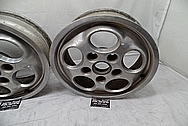 Porsche 944 Aluminum Wheels BEFORE Chrome-Like Metal Polishing and Buffing Services - Aluminum Polishing