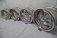 Aluminum Wheels BEFORE Chrome-Like Metal Polishing and Buffing Services - Aluminum Polishing Services