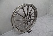 Trike Aluminum Wheel BEFORE Chrome-Like Metal Polishing - Aluminum Polishing Services - Wheel Polishing